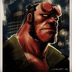 Hellboy Portrait - Yildiray Cinar