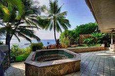 Oceanfront - custom home in private enclave of luxury homes in Alii Point, North, Kona.