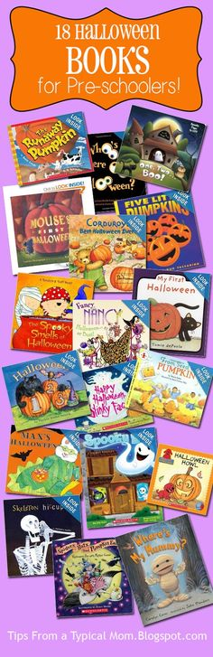 Tips from a Typical Mom: 18 Must Read October & Halloween Preschool Books