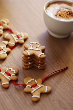 gingerbread men with mustaches