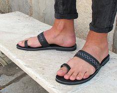 Los hombres de cuero sandalias totalmente por GreekChicHandmades