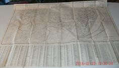 1935 Fold Out Map of Cambridge, Massachusetts, both copies have small hole from removing them from binder, fair shape, creased by VintageNEJunk on Etsy