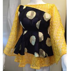 2019 Tastefully Fabulous Skirts And Blouse Dresses For The Stylishly Beautiful Ladies Fashion Style Ankara Peplum Tops, Ankara Skirt And Blouse, Ankara Dress, African Blouses, African Tops, African Fashion Ankara, African Print Fashion, African Attire, African Wear