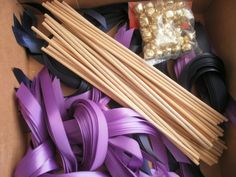 diy ribbon wands kit | Best DIY Wedding Projects via http://emmalinebride.com/decor/best-
