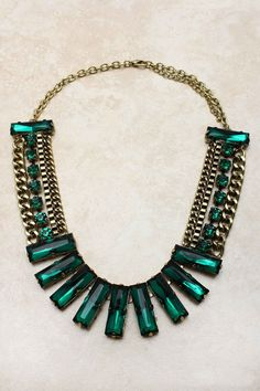 Emerald Valencia Statement Necklace | Awesome Selection of Chic Fashion Jewelry | Emma Stine Limited