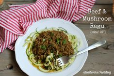 This beef and mushroom ragù is full of deep flavors and will remind you of your favorite classic spaghetti bolognese, without a hint of tomato anywhere in sight. It'll quickly become a regular on your family's rotation. It can also be thrown together in a matter of minutes and is packed with veggies. AIP/ paleo/ beef ragù / autoimmune palo/ autoimmune protocol