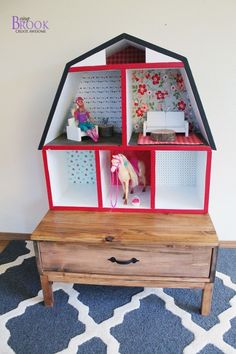 How cute is this barn dollhouse? You can build it for the little girl in your life with free plans from Ana White.