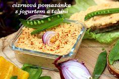 Cizrnová pomazánka s jogurtem a tahini Tahini, Korn, Grains, Spreads, Seeds, Sandwich Spread
