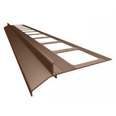 Profil balkonowy K30 aluminiowy prosty 250cm kolor brąz