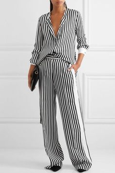 Black and white satin-twill Button, hook and zip fastening at front Fabric1: 100% viscose; fabric2: 100% polyester; fabric3: 100% cotton; internal waistband: 65% polyester, 35% cotton; pocket lining: 100% silk Dry clean Imported