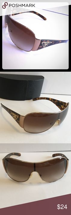 GUC Prada Sunglasses GUC Prada Sunglasses  Yes authentic  BUT these do have a flaw. And I normally don't list anything that is not perfect condition! I did lend these out. Came back with signs that they had bit the ear piece. Twice on one side and once on the other. Very obvious it was not an every day habit, but it is visible from the inside. Needless to say, the said person has yet to loan another pair 😬😂 Does not effect wear *Price reflects this flaw & pictures show evidence lol Prada…