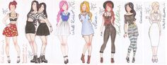 Alice in Wonderland Fashion by VianaDrawings