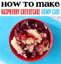 Best Dessert Recipes to Make!  Craving a sweet and tangy addition to your dessert menu?  You're going to love this raspberry dump cake!  The warm buttery crumble over the gooey raspberries is such an irresistible flavor that I know you'll love. Crock Pot Desserts, Desserts Menu, Best Dessert Recipes, Cookie Desserts, Delicious Desserts, Yummy Food, Popular Recipes, Easy Recipes, Easy Meals