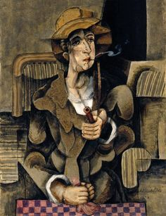 "amare-habeo: "" Antonín Procházka (Czech, 1882 – Smoker (Kuřák), N/D "" Chaim Soutine, Female Painters, Still Life Fruit, Small Sculptures, Wassily Kandinsky, Cubism, Anton, Fine Art, Illustration"