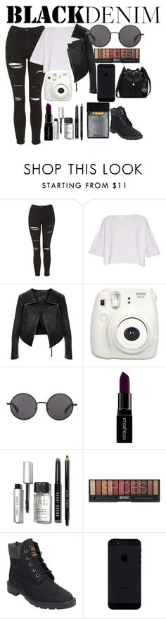 """Untitled #48"" by omfcj ❤ liked on Polyvore featuring Topshop, Helmut Lang, Linea Pelle, The Row, Smashbox, Bobbi Brown Cosmetics, Timberland, MICHAEL Michael Kors, women's clothing and women's fashion"
