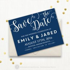 Multicolor Butterfly Sparkles Indigo Wedding Save Date Postcard