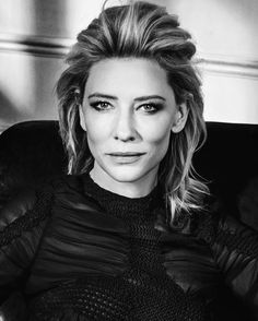 Cate Blanchett, photographed by Mark Abrahams for GQ, Dec 2015.