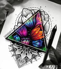 Dotwork Tattoo Mandala, Mandala Flower Tattoos, Geometric Mandala Tattoo, Geometric Tattoo Design, Mandala Tattoo Design, Flower Tattoo Designs, Mandala Art, Geometric Flower Tattoos, Design Tattoos