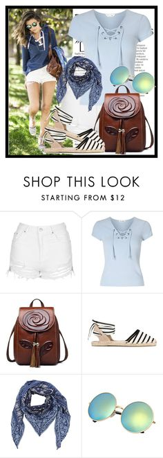 """""""Denim Shorts"""" by diana97-i ❤ liked on Polyvore featuring Balmain, Topshop, Miss Selfridge, Soludos, Diesel, jeanshorts, denimshorts and cutoffs"""