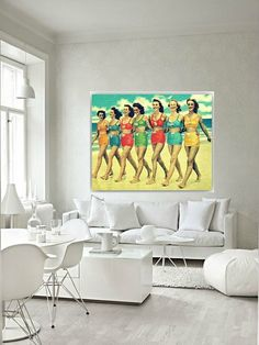 Beach Canvas BEACH BABES 16x20 Gallery Wrap