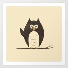 Peace Owlt Art Print by Zach Terrell - $17.00