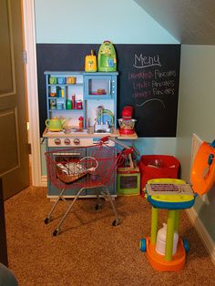 cute kitchen area in a play room