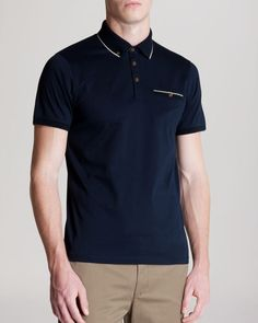 Ted Baker Lotuz Knit Collar Polo - Classic Fit