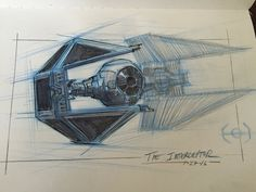 TIE Interceptor by AlexRuizArt on DeviantArt