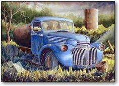 """""""Old Truck' watercolor painting by Maury Kettell"""
