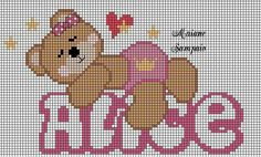 Baby Birth, Baby Cats, Pixel Art, Cross Stitch Patterns, Diy And Crafts, Alice, Crochet, Biscuit, Bears