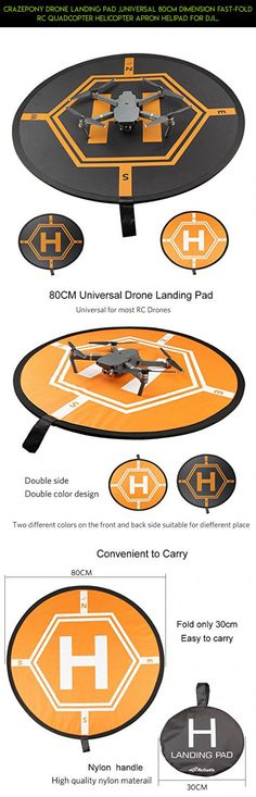Crazepony Drone Landing Pad ,Universal 80cm Dimension Fast-fold RC Quadcopter Helicopter Apron Helipad for DJI Phantom 2 3 4 inspire 1 Mavic Pro Parrot Bebop Syma Yuneec Q500  Typhoon  #fpv #inspire #accessories #products #technology #shopping #camera #drone #racing #2 #plans #dji #tech #gadgets #parts #kit