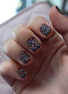 DIY Caviar Manicure Live the nails but not so short