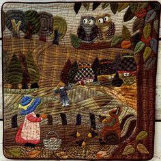 """Sue in Japan  """"Natural Colours"""" これからの季節ぴったりな色のスー。  Patchwork Quilt パッチワークミシンキルト Nakazawa Felisa 中沢フェリーサ"""