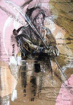 Naginata. Série «Femme et Arts martiaux».