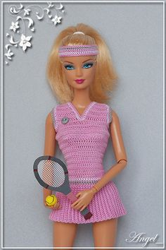 Barbie Patterns, Doll Clothes Patterns, Clothing Patterns, Crochet Barbie Clothes, Doll Clothes Barbie, Barbie Summer, Manequin, Barbie Miss, Barbie Hair