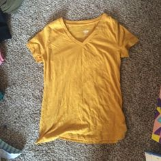 Mustard yellow v neck Great condition worn once Mossimo Supply Co Tops Tees - Short Sleeve