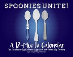 2016 Spoonie Calendar PREORDER by SarahCatesCreations on Etsy Order until December 1st for only $19.99 + Shipping!