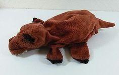 "13"" Brown Crocodile Alligator Plush Hand Puppet Dream Toys Stuffed Toy B272"