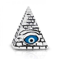 Sterling Silver Masonic Evil Eye Pendant