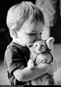 I Shall Love Him and Pet Him and Call Him George..my sister i bet wll have a kiddo like this. she loves animals so much! What a beautiful characteristic to have.  We need more animal lovers.
