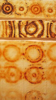 Jennifer Coyne Qudeen Gorgeous rusts on fabric