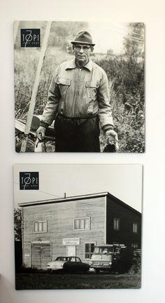 Perustajamme Toivo Ojala sekä ensimmäinen tehtaamme josta kaikki silloin joskus sai alkunsa. Baseball Cards, Sports, Hs Sports, Sport