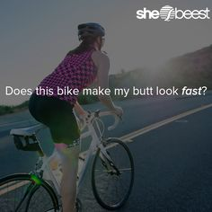 Does this #bike make my butt look fast? #womenscycling