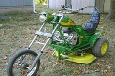Might as well enjoy mowing the grass....