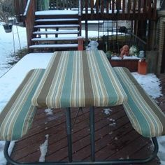 Our Custom Furniture Covers and Outdoor Patio Tablecloths are made to fit and stay-put on your furniture and are available in Weather Resistant Outdoor Fabrics as well as Heavy-Duty Vinyl and Outdoor Nylon Vinyls.