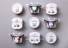 Fratelli Spirini - Google 搜索 Food Packaging Design, Packaging Design Inspiration, Brand Packaging, Branding Design, Milk Packaging, Food Branding, Italian Flag Image, Cheese Brands, Cheese Packaging