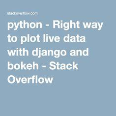 21 Best Django images in 2016 | Stack overflow, Bokeh