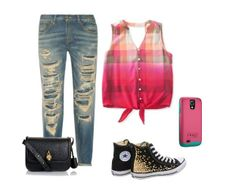 # My Style  Case #OtterBox #SymmetrySeries Tall Rose Jeans R13 Shirt Aeropostale Sneakers  Converse Bag Alexander McQueen
