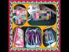NECESSAIRE MULTIPLA - YouTube Sew Together Bag, Clutch Pattern, Bag Organization, Clutch Wallet, Cosmetic Bag, Purses And Bags, Sewing Projects, Coin Purse, Patches