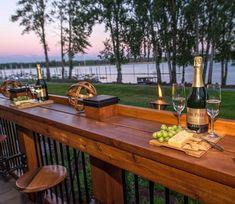 Best Outdoor Bar At Backyard Ideas #deckbuildinghacks #deckbuildingtips